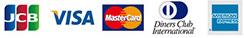 JCB/VISA/MasterCard/DinersClub/AMERICAN EXPRESS